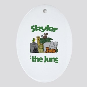 Skyler of the Jungle Oval Ornament