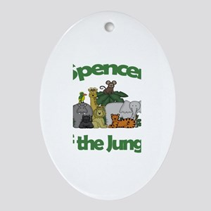 Spencer of the Jungle Oval Ornament