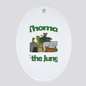 Thomas of the Jungle Oval Ornament