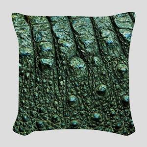 Alligator Skin Woven Throw Pillow