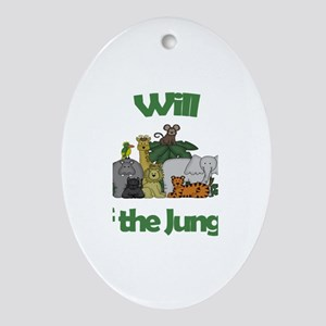 Will of the Jungle Oval Ornament