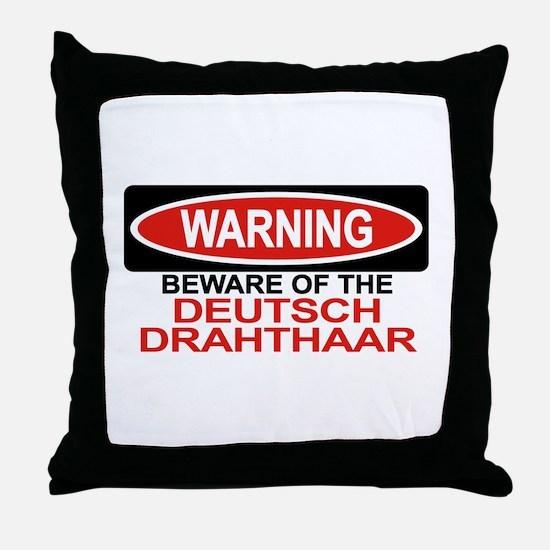 DEUTSCH DRAHTHAAR Throw Pillow