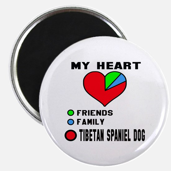 My heart, friend, Family, Tibetan Spaniel D Magnet