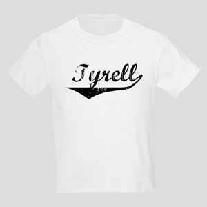 Tyrell Vintage (Black) Kids Light T-Shirt