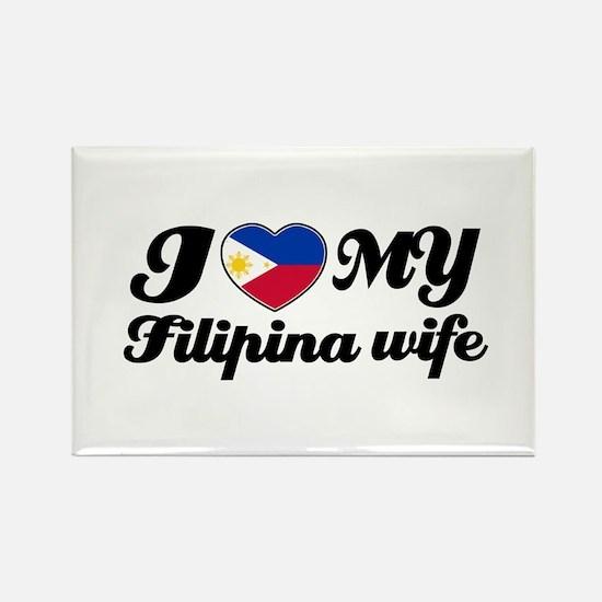 I love my Filipina wife Rectangle Magnet