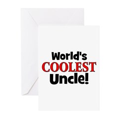 World's Coolest Uncle! Greeting Cards (Pk of 20)