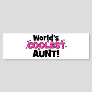 World's Coolest Aunt! Bumper Sticker