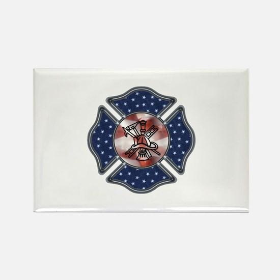 Firefighter USA Rectangle Magnet