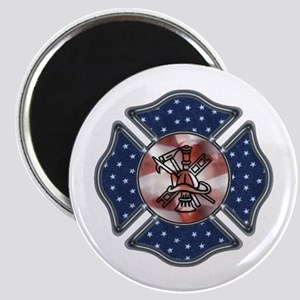 Firefighter USA Magnet