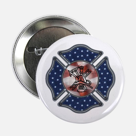 """Firefighter USA 2.25"""" Button"""