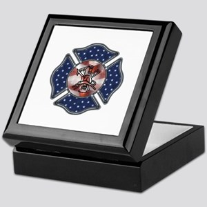 Firefighter USA Keepsake Box