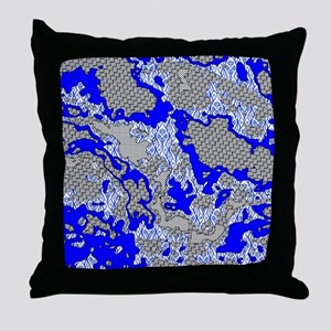unique abstract pattern mix Throw Pillow