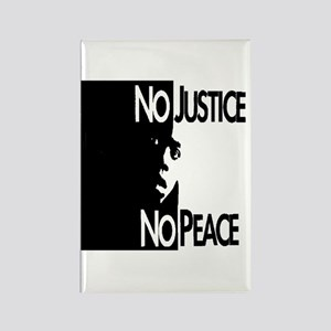 No Justice No Peace Rectangle Magnet (10 pack)