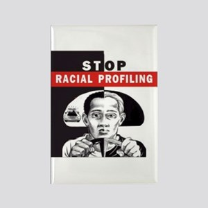 Stop Racial Profiling Rectangle Magnet (10 pack)