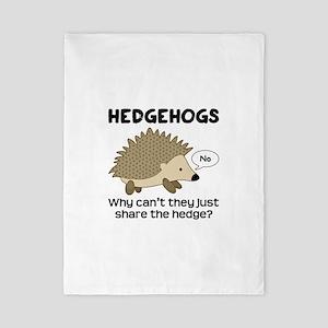 Hedgehog Pun Twin Duvet Cover