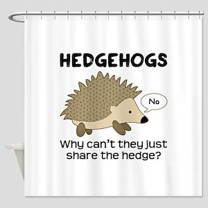 Hedgehog Pun Shower Curtain