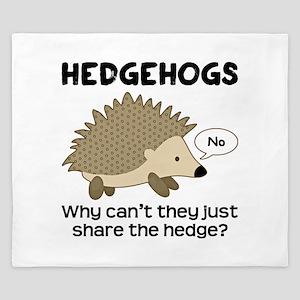 Hedgehog Pun King Duvet