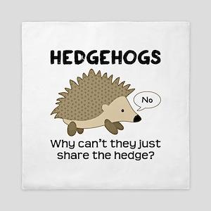 Hedgehog Pun Queen Duvet