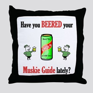 Muskie Guide Throw Pillow