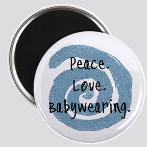 Peace. Love. Babywearing. Magnet