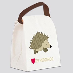 I Love My Hedgehog Canvas Lunch Bag