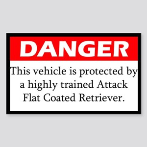 Attack Flat Coated Retriever Sticker