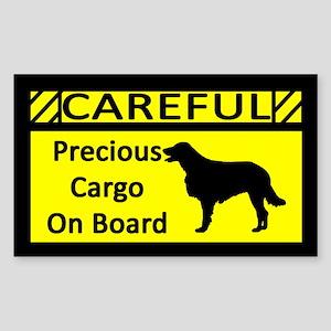 Precious Cargo Flat Coated Retriever Sticker
