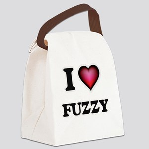 I love Fuzzy Canvas Lunch Bag