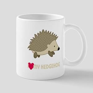 I Love My Hedgehog Mugs