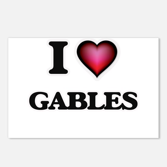 I love Gables Postcards (Package of 8)