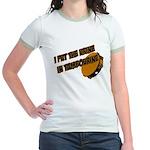 I put the urine in tambourine Jr. Ringer T-Shirt
