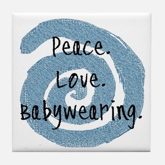 Peace. Love. Babywearing. Tile Coaster