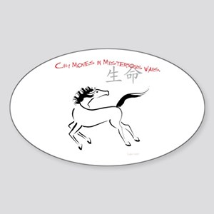 Chi Moves Mysterious Horse Oval Sticker