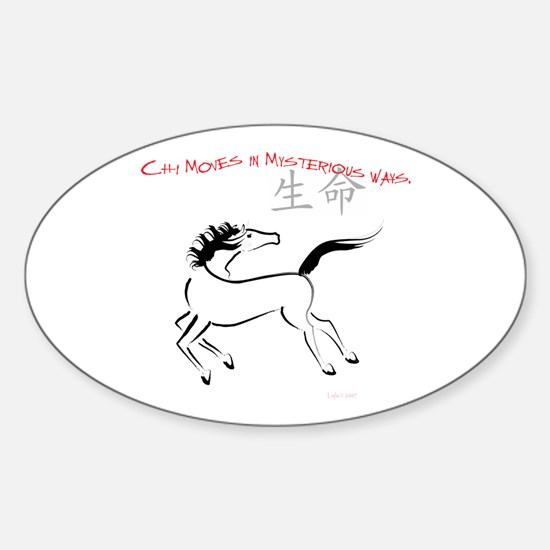 Chi Moves Mysterious Horse Oval Decal