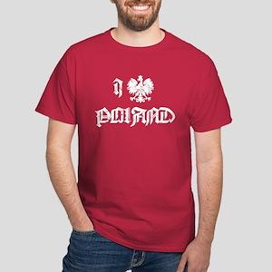 I love Poland w/eagle Dark T-Shirt