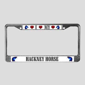 Hackney Horse License Plate Frame