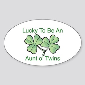 Lucky to be Aunt Oval Sticker