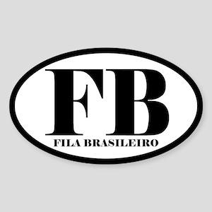 FB Abbreviation Fila Brasileiro Sticker