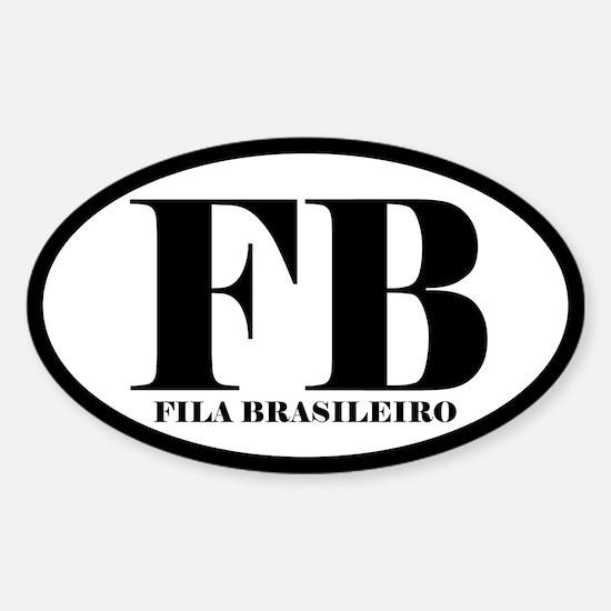 FB Abbreviation Fila Brasileiro Decal
