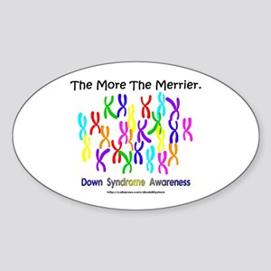 The More The Merrier Oval Sticker