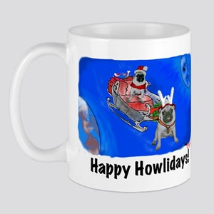 Howliday Pugs Mug
