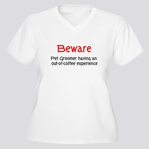 Pet Groomer Women's Plus Size V-Neck T-Shirt