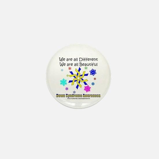 DS Ribbon Snowflake Mini Button