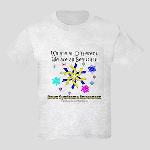 DS Ribbon Snowflake Kids Light T-Shirt