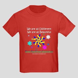 DS Ribbon Snowflake Kids Dark T-Shirt