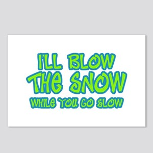 Funny Snowmobile Gifts Postcards (Package of 8)