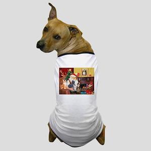 Santa's Five Cats Dog T-Shirt