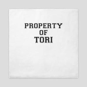 Property of TORI Queen Duvet