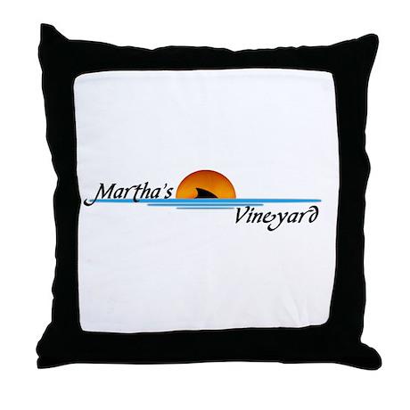 Martha's Vineyard Shark Throw Pillow