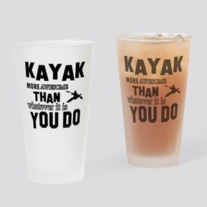 kayak sport design Drinking Glass
